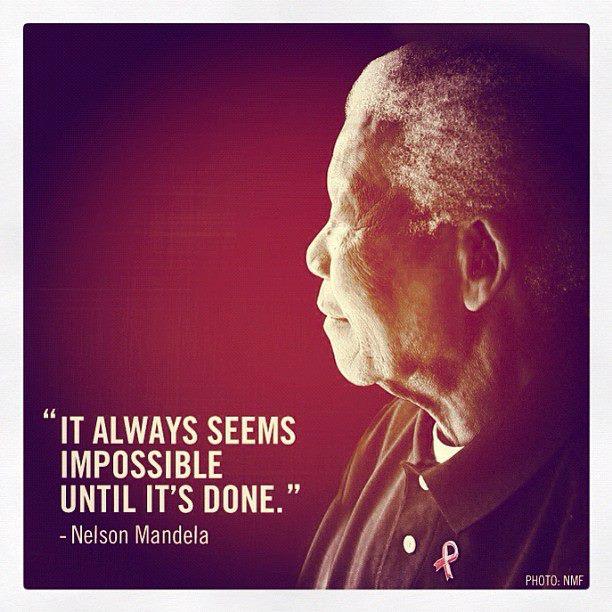 Inspiration from Nelson Mandela
