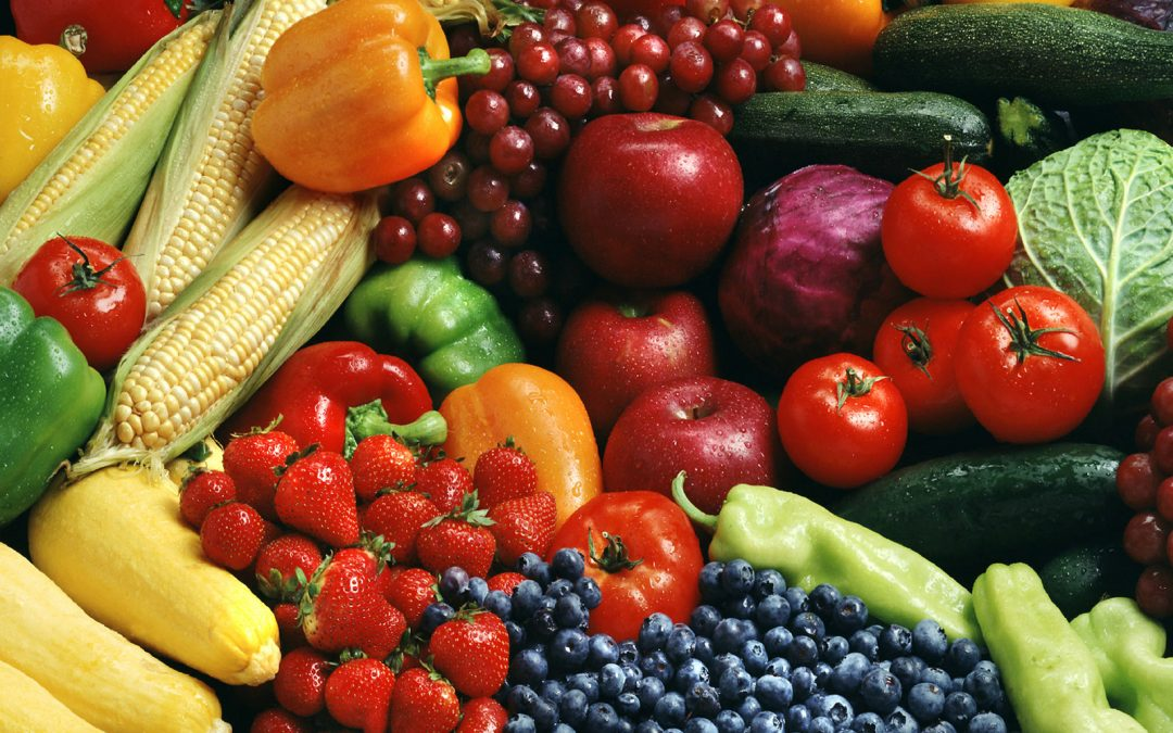 A rainbow of fruit and vegetables