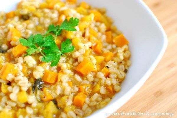 Recipe: Butternut squash and Barley Risotto